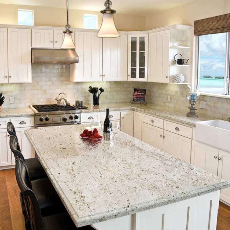 Favorite Granite Colors For White Cabinets, White Kitchen Cabinets With Granite Countertops