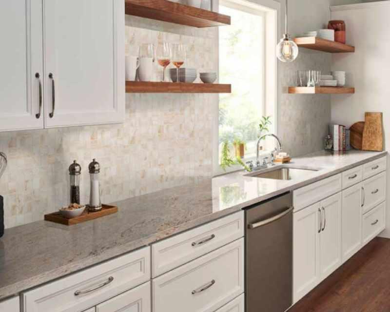 Favorite Granite Colors For White Cabinets, Granite Countertops With White Cabinets