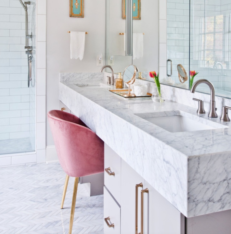 soft white marble bathroom shabby chic