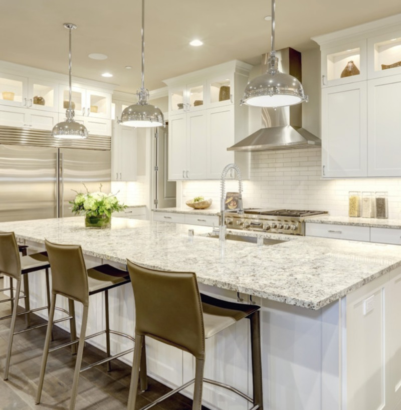 inspiration for white kitchen with granite countertop