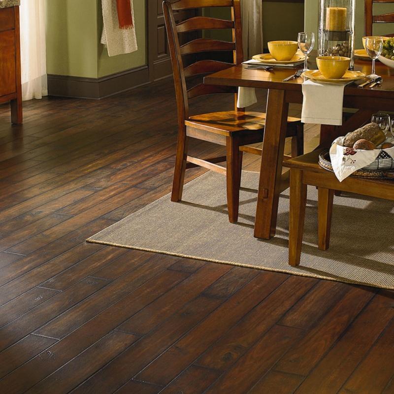 gorgeous dark wood look tile