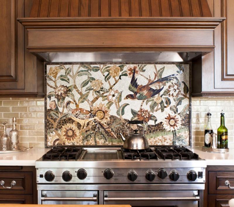 gorgeous mosaic kitchen backsplash tile custom