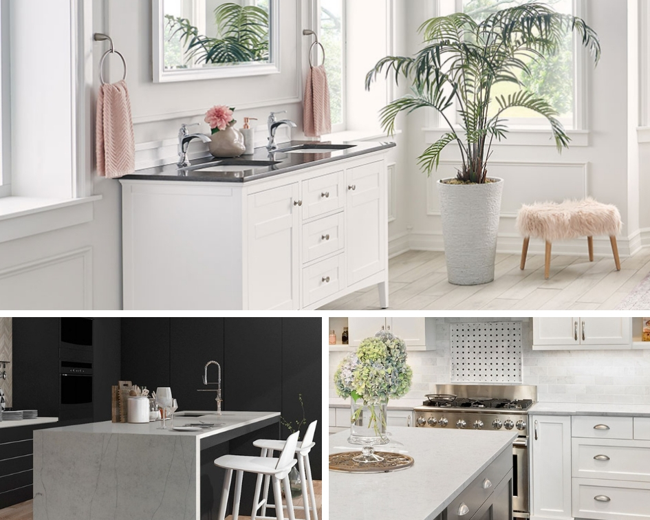 beautiful spaces with quartz countertops