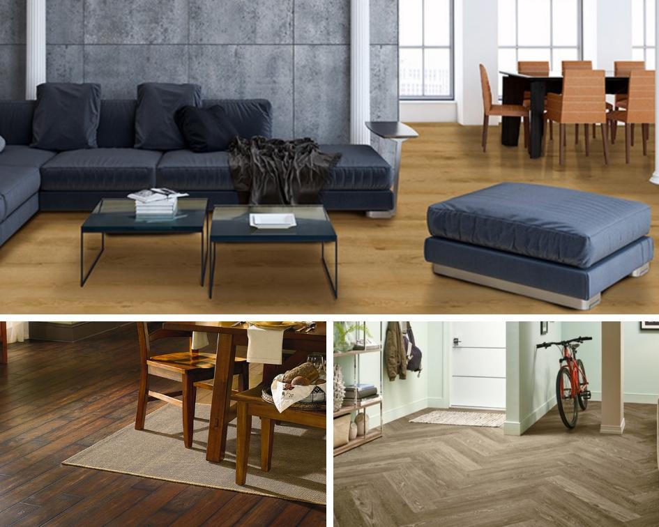 many uses for luxury vinyl tile on the floor