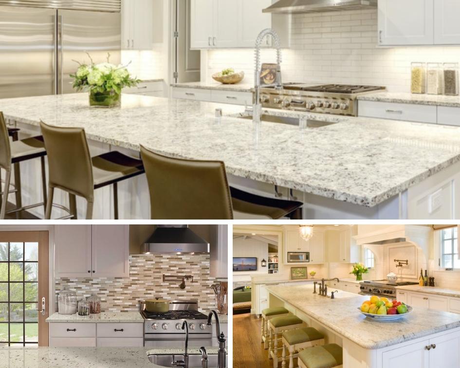 ideas for white granite kitchen counters