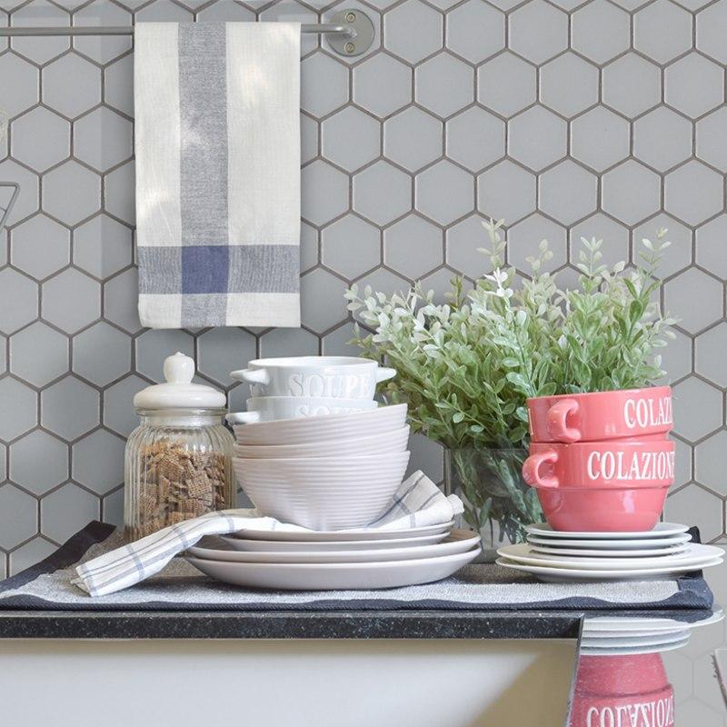 trendy hexagon porcelain wall tile