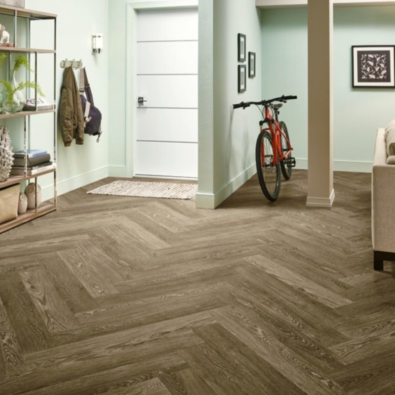 uniquely patterned wood look tile