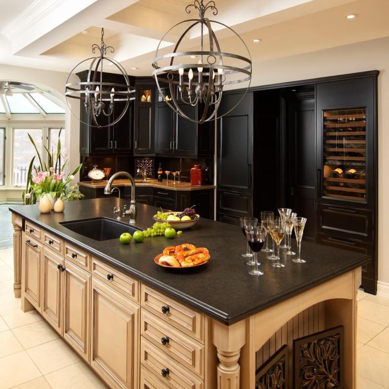 granite countertop kitchen scene