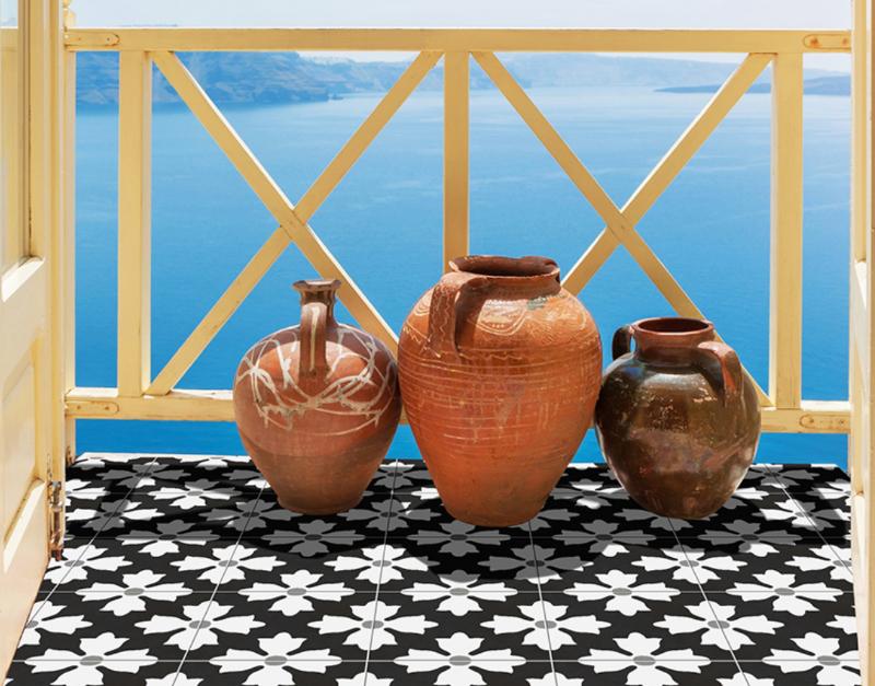 timeless encaustic porcelain tile
