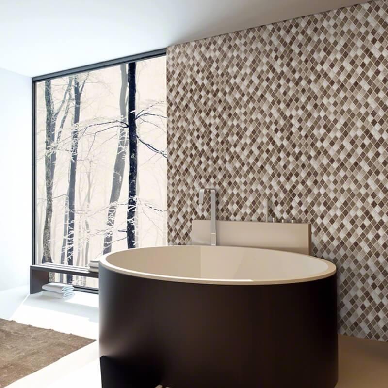 hotel look bathroom wall mosaic
