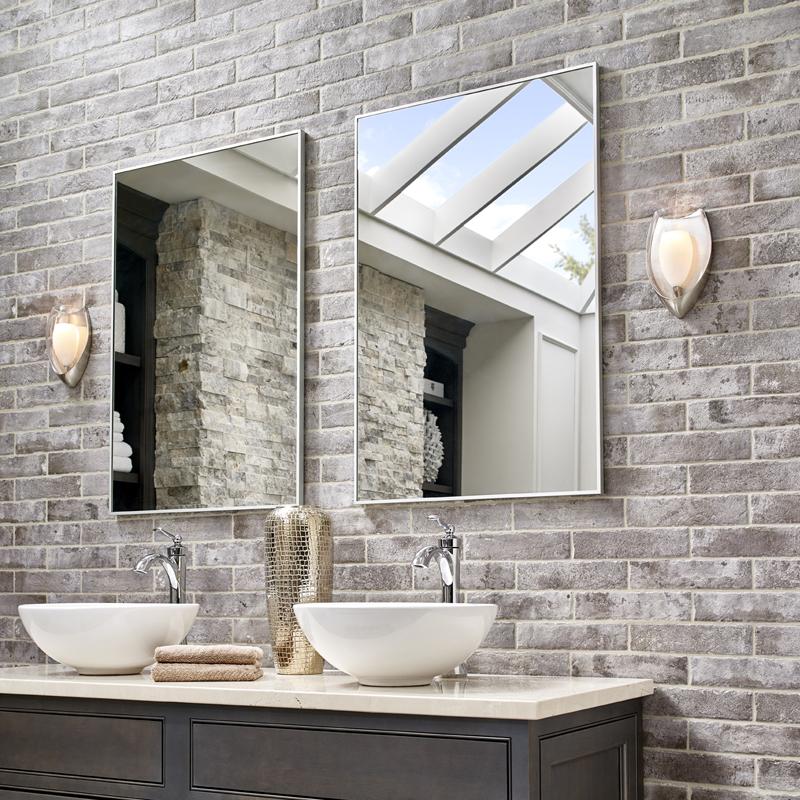 Brick look porcelain bathroom wall tile
