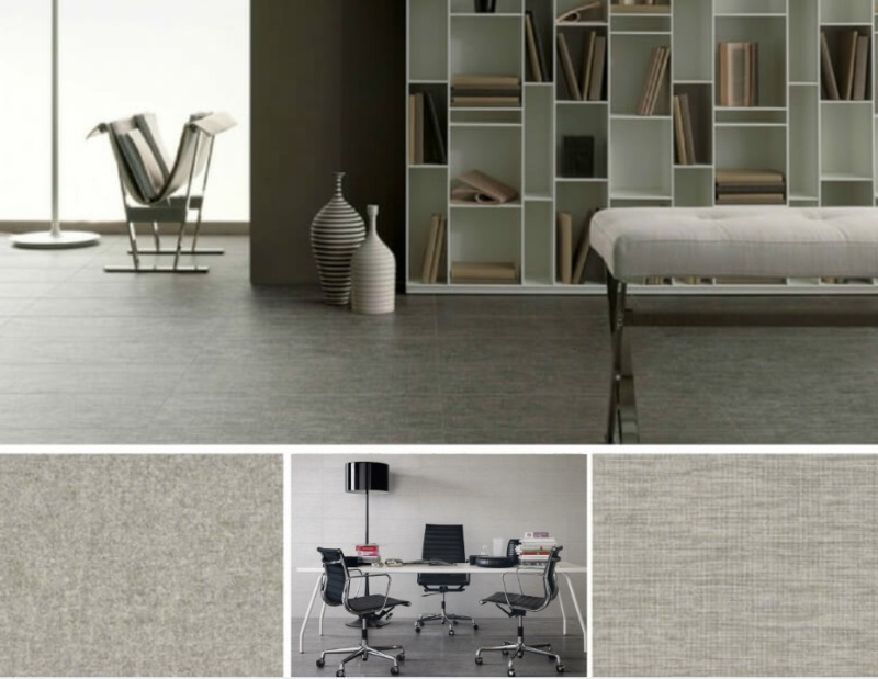fabric on the floor introducing the tektile porcelain collection