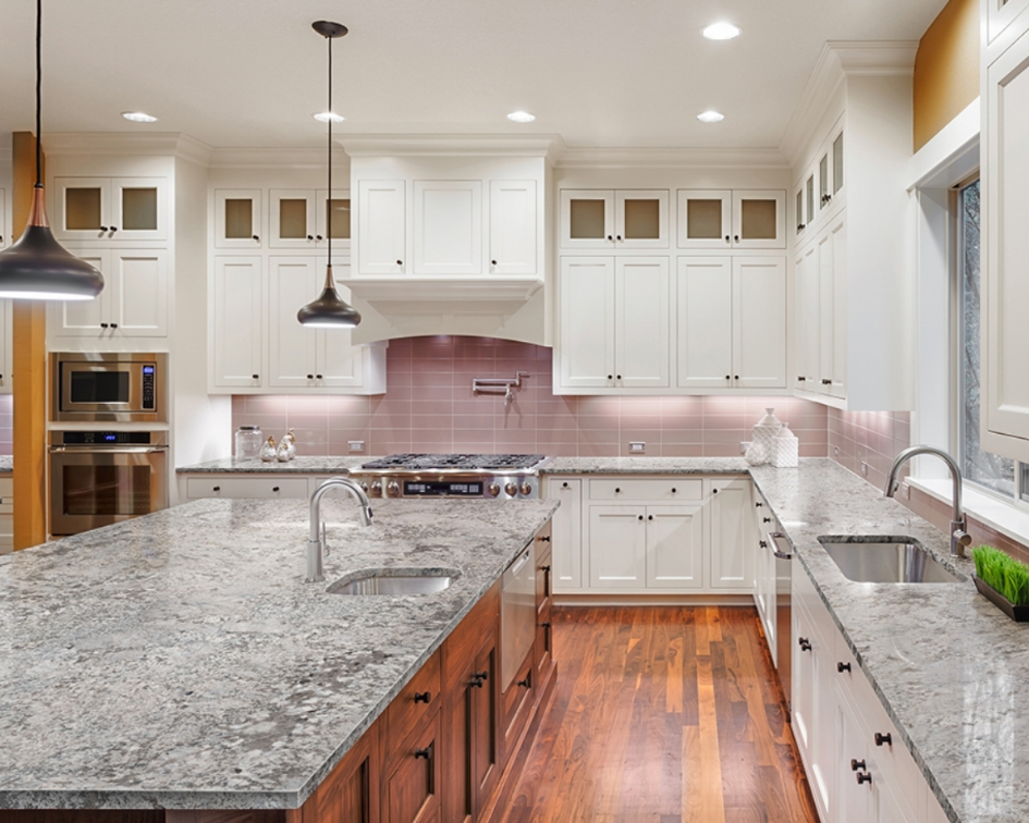 Gorgeous granite kitchen countertops