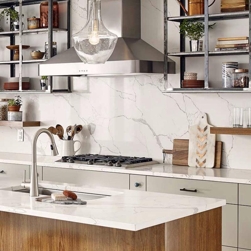 Calacatta laza quartz countertop
