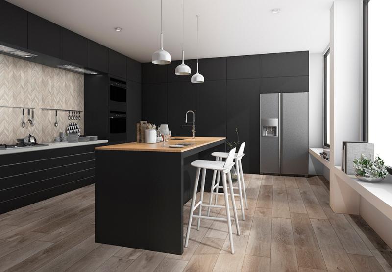 luxury vinyl tile kitchen floor