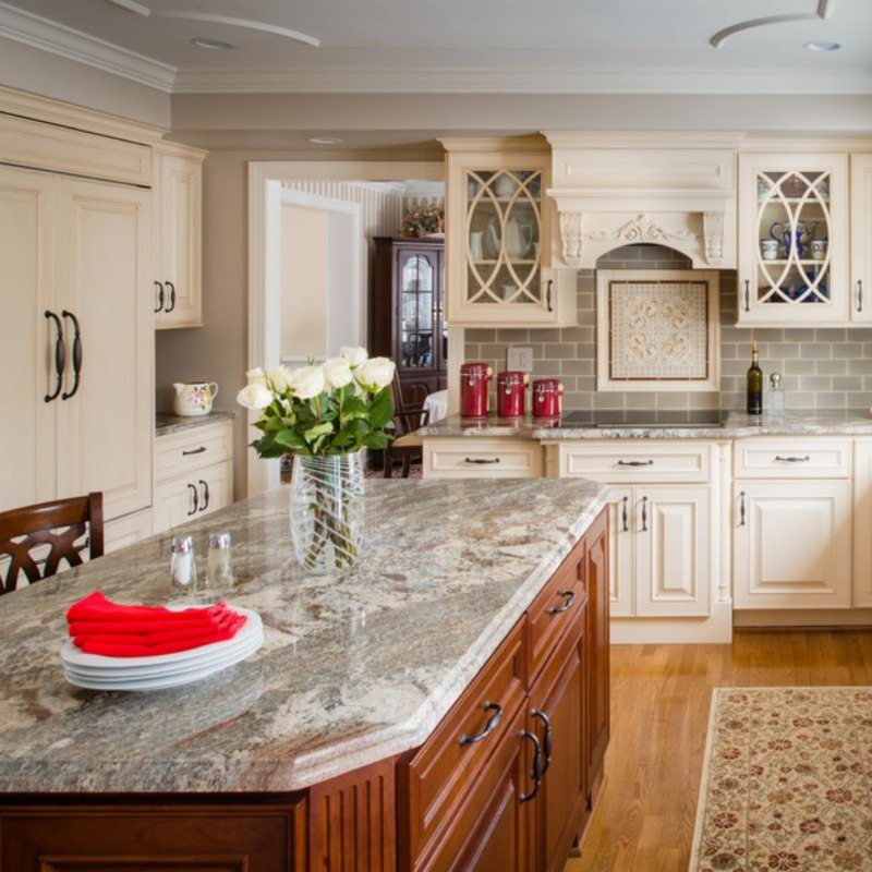 stunning granite countertop in kitchen