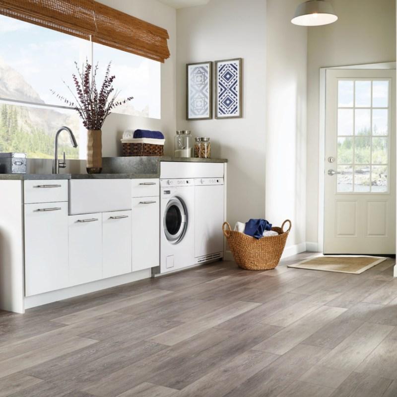 lvt flooring in elegant laundry room