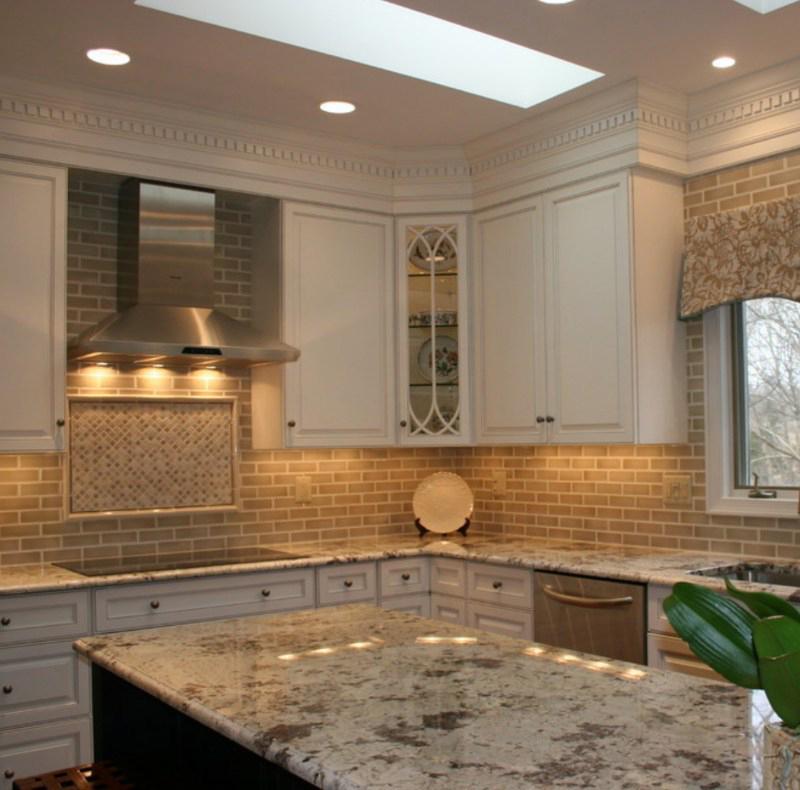 White Natural Stone Countertops Kitchen