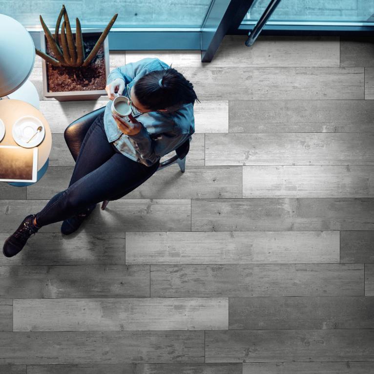 beautiful gray wood look vinyl flooring