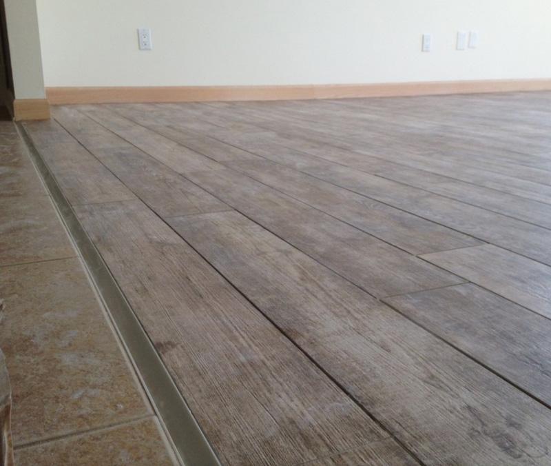 gris porcelain wood plank flooring