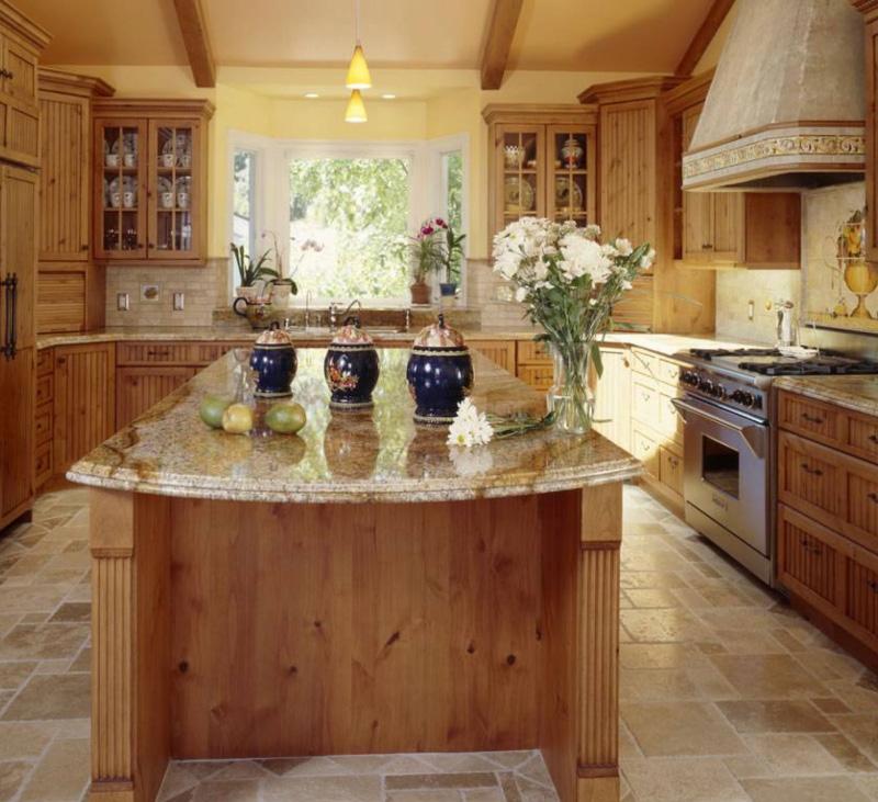 golden granite kitchen countertop