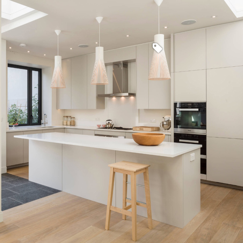 simple and clean kitchen with lvt flooring