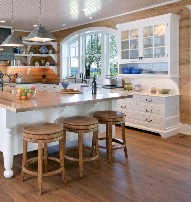 French country kitchen with luxury vinyl tile