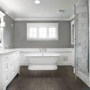 gorgeous bathroom with vinyl floor