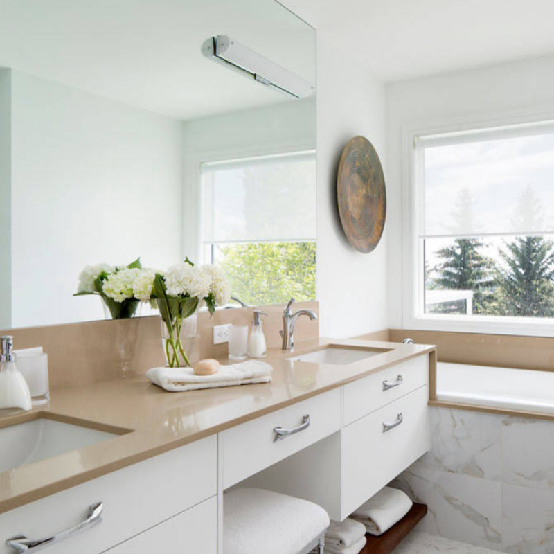 gorgeous solid color quartz countertop