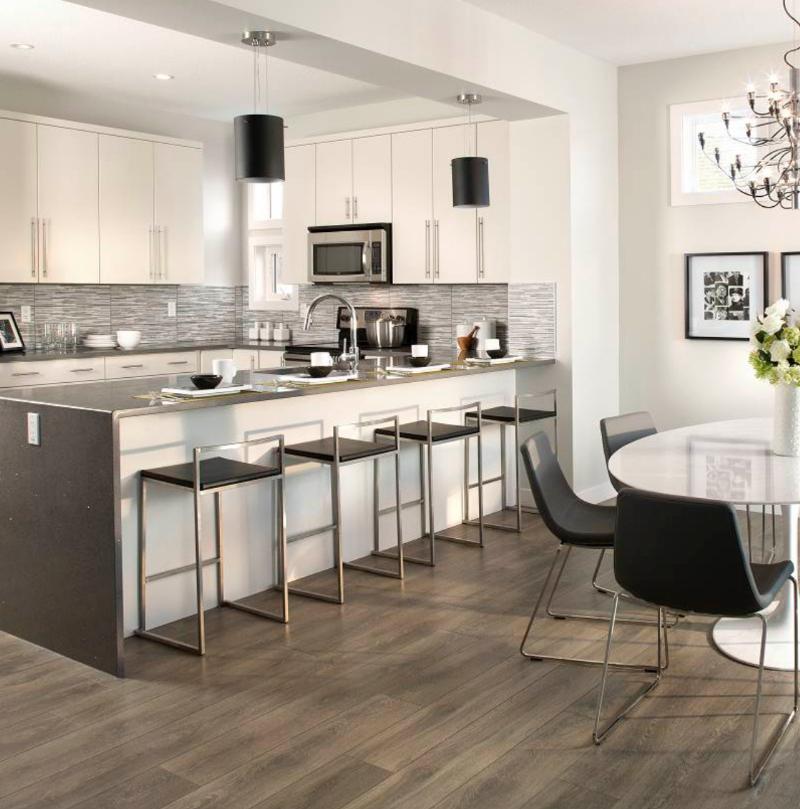 vinyl flooring in kitchen