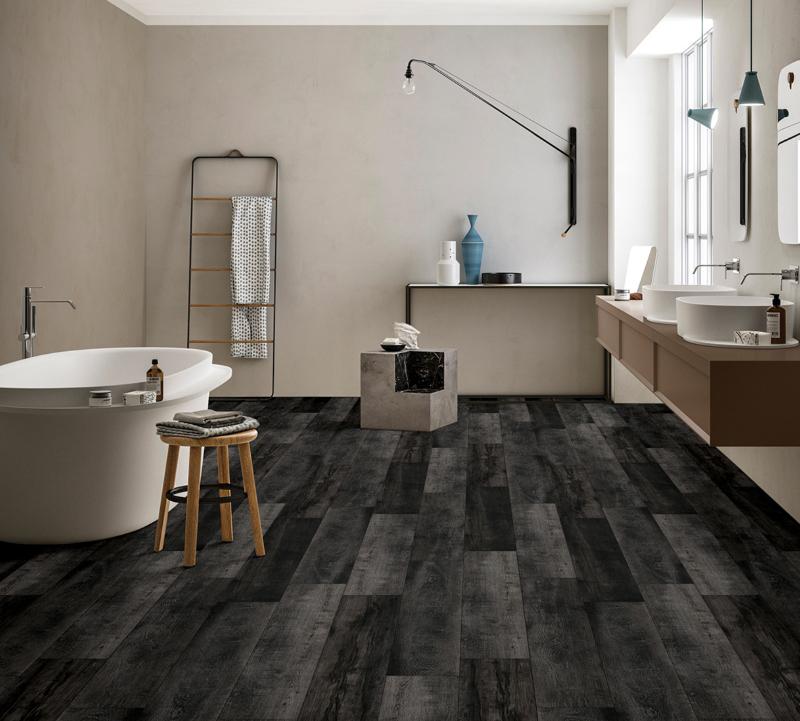 dark gray wood vinyl flooring