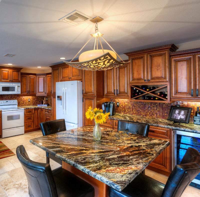 granite countertop in the kitchen