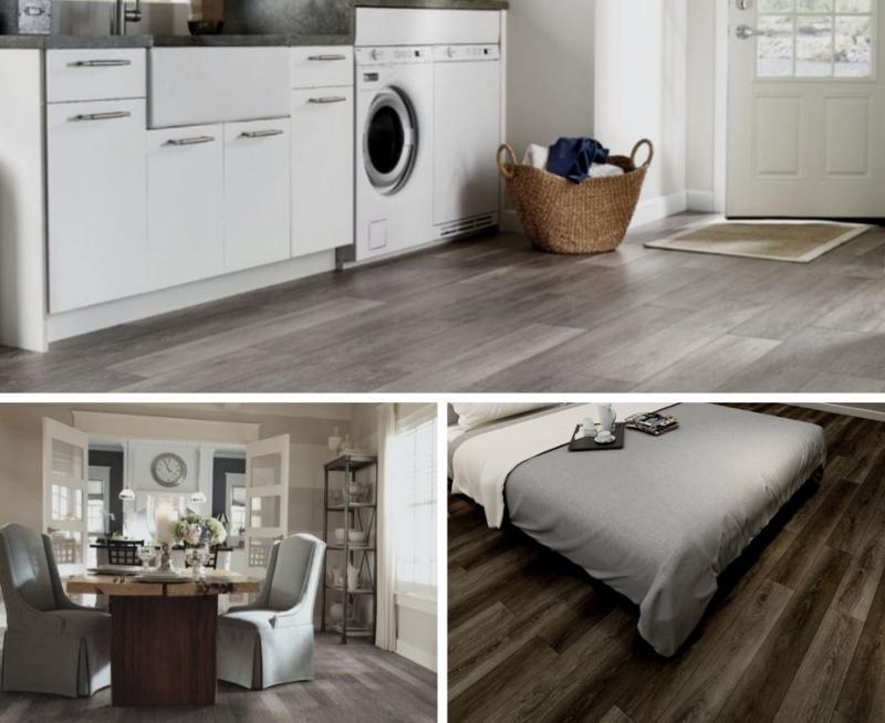 laminate and vinyl flooring collage