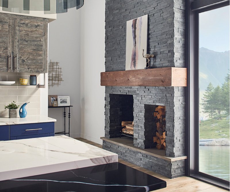 Cozy Stacked Stone Fireplaces, Stacked Rock Fireplace Pictures