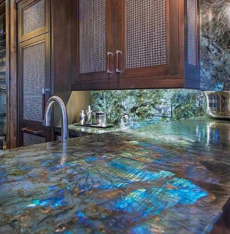 striking granite kitchen tabletop