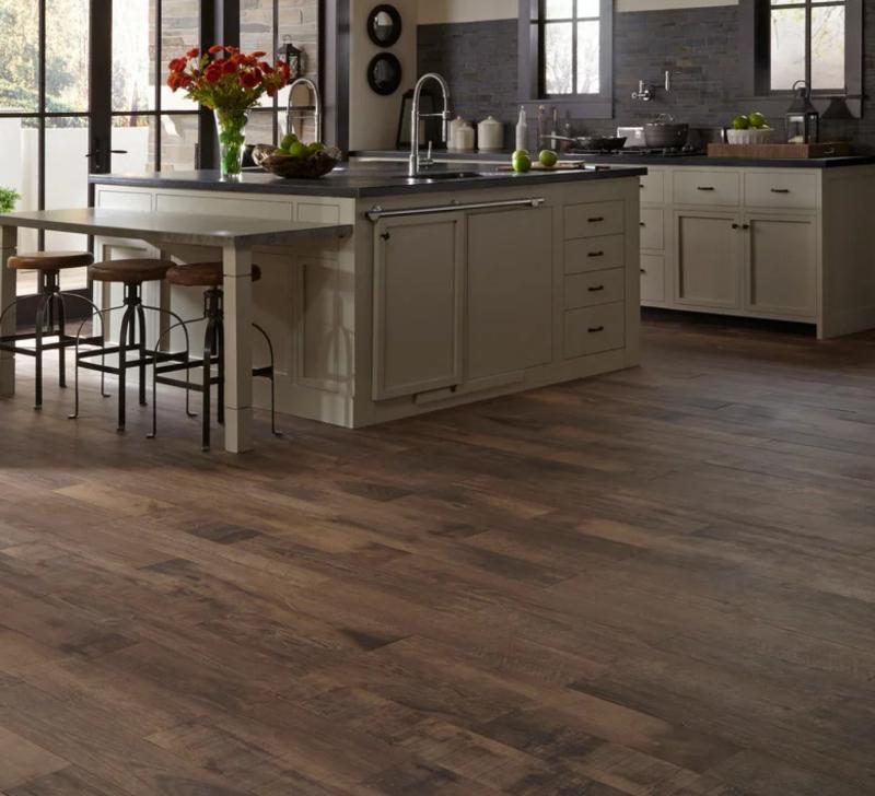 wood tile kitchen floor