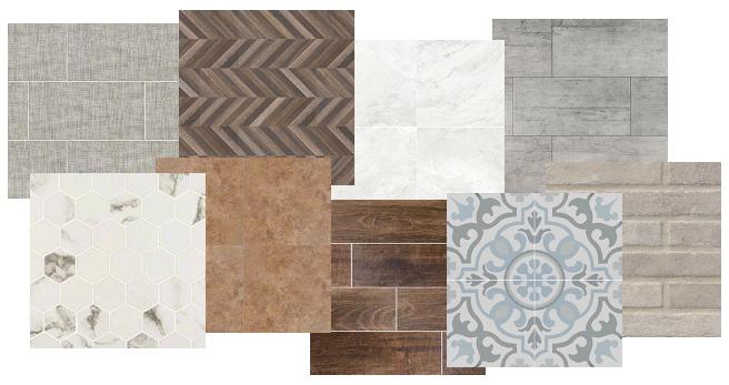 porcelain flooring samples