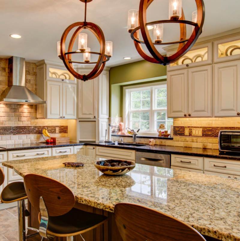 gold kitchen granite countertop