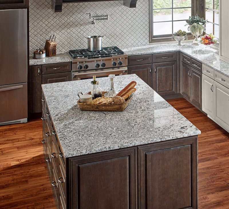 kitchen countertops with backsplash