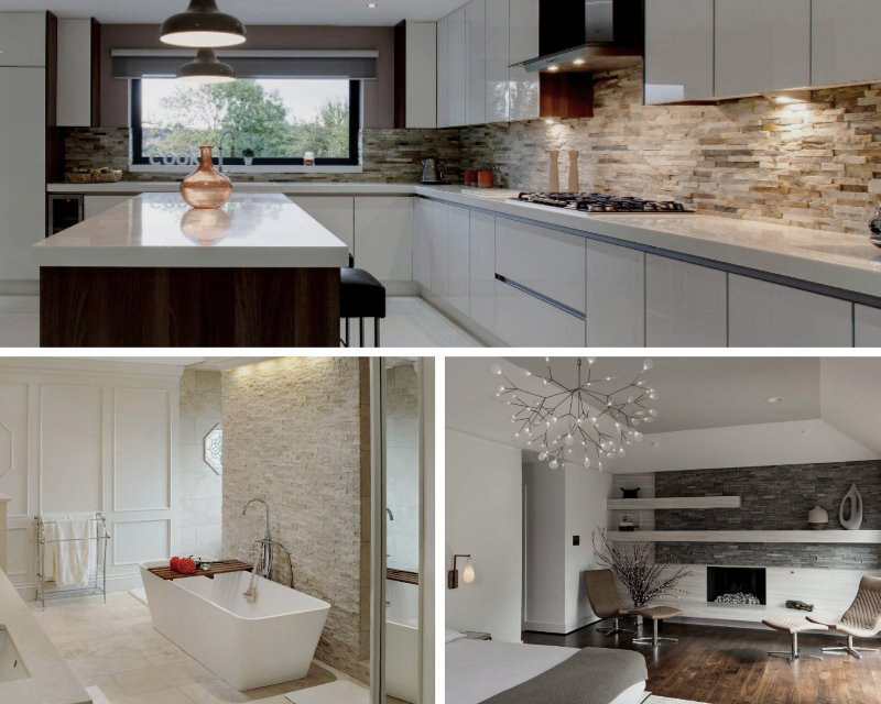 stacked stone wall ideas for the home
