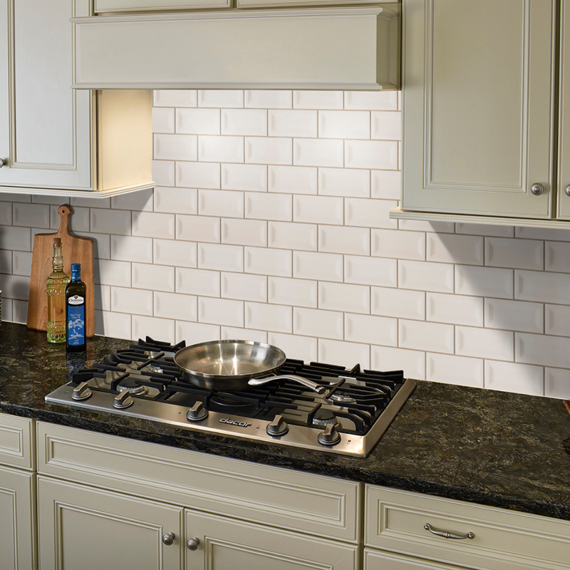 almond colored subway tile