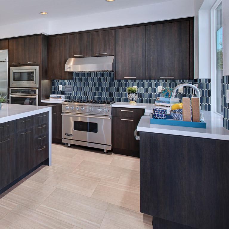 gorgeous blue kitchen countertop