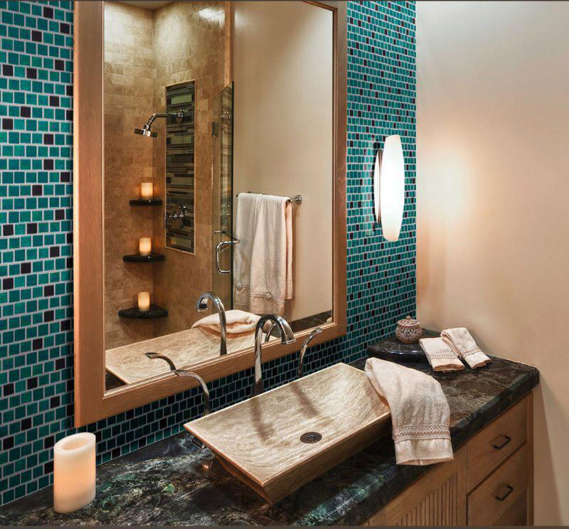 bathroom countertops with backsplash