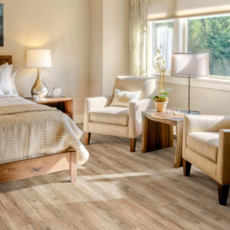bedroom with luxury vinyl tile