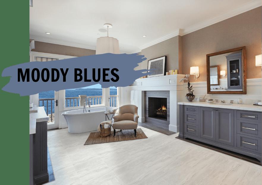 blue tile and decor