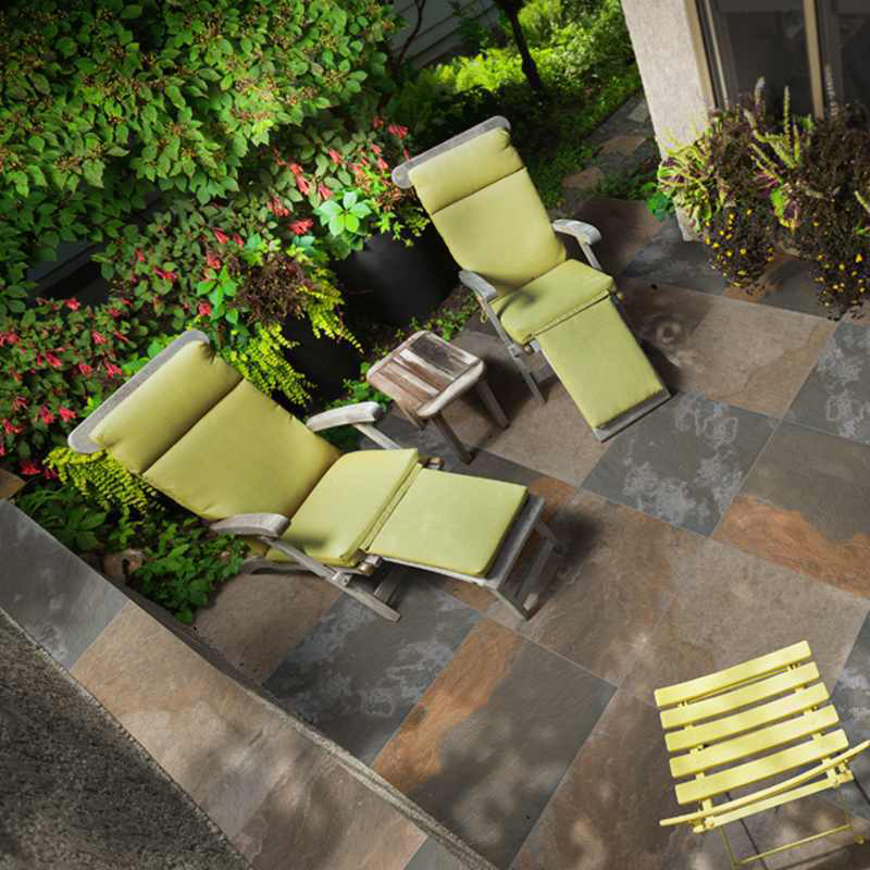 gorgeous outdoor porcelain pavers on the patio