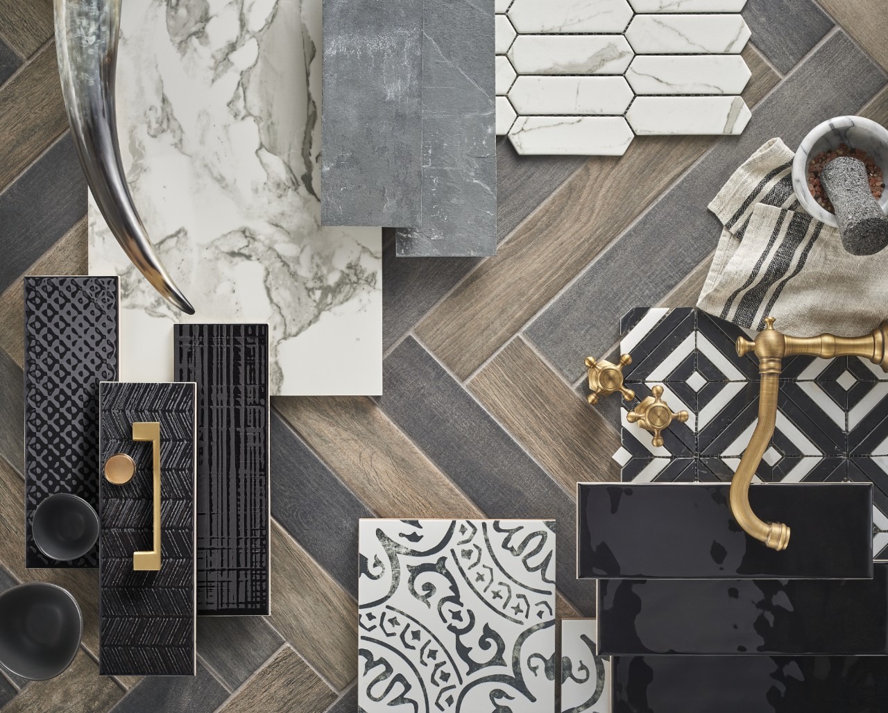 collage of modern farmhouse inspired designs