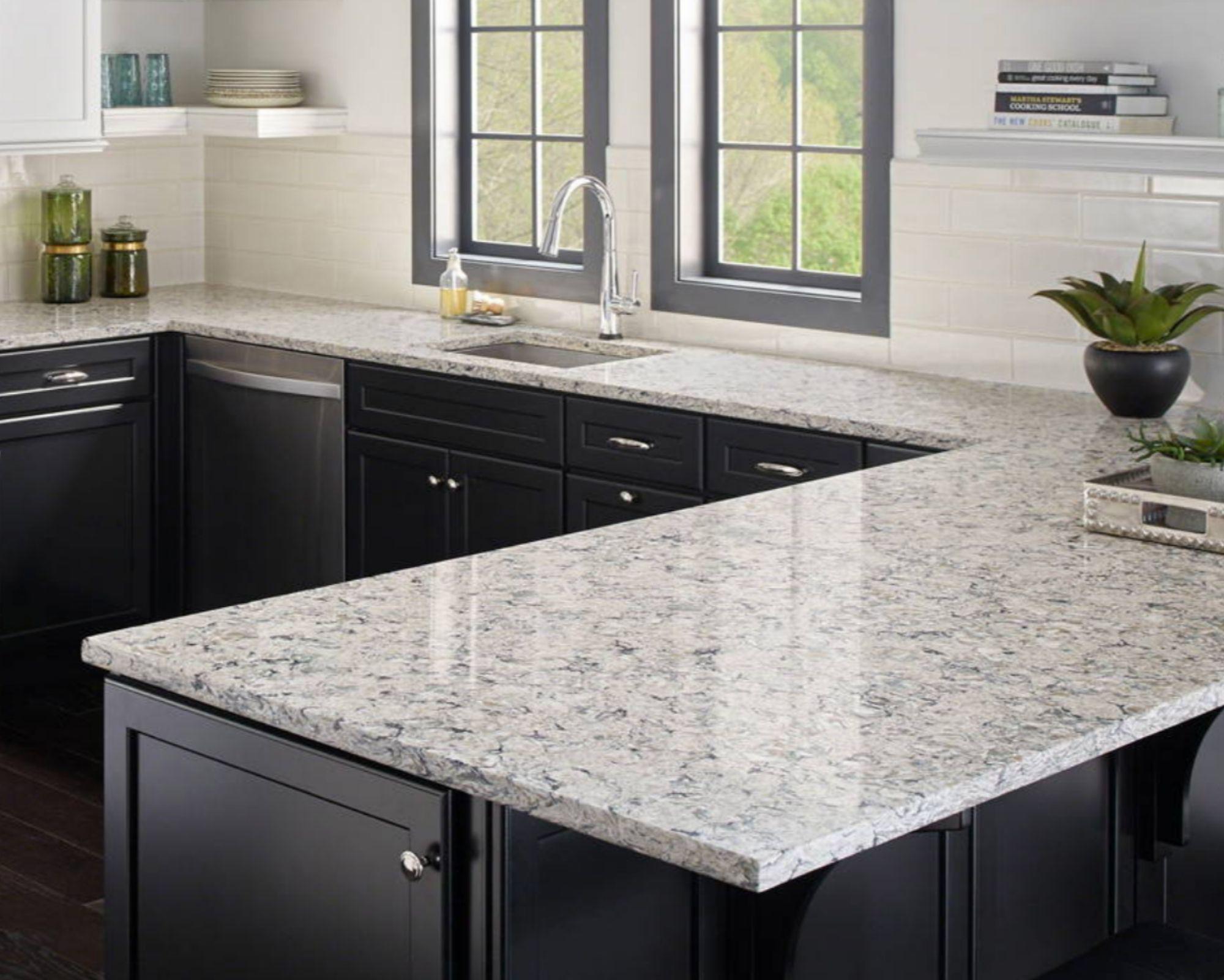 gorgous quartz kithen countertop