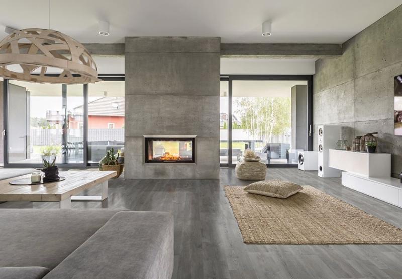 luxury vinyl tile living room floor
