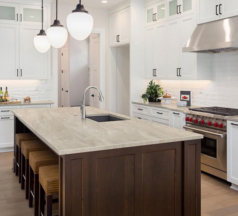 bright kitchen countertop